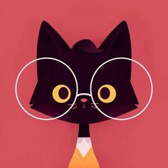 - design and illustration - Realistic Pencil Drawings, Animal Drawings, Easy Drawings, Simple Cartoon Drawings, Simple Cat Drawing, Drawing Ideas, Drawing Tips, Super Cat, Cat Tattoo