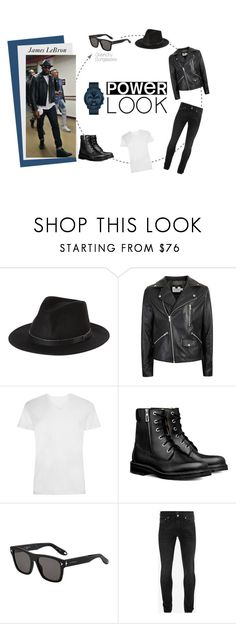 """James Lebron Rocks !"" by visiondirect ❤ liked on Polyvore featuring Brixton, Topman, Givenchy, Alexander McQueen, Movado, men's fashion, menswear, nba, sunglasses and jameslebron"