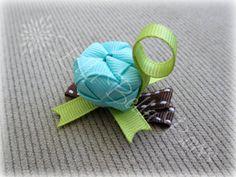 Woven Turtle Ribbon Hair Clip