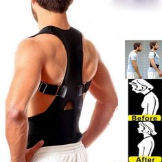 e0dbcf4c3a Posture Corrector Support Men Women Magnetic Back Shoulder Brace Belt  Adjustable