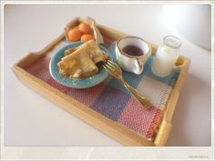 French Crepes and Apricots - Breakfast in Bed - Dollhouse Miniature Food French Crepes, Doll Food, Tiny Food, Mini Things, Breakfast In Bed, Barbie House, Miniture Things, Miniature Food, Recipe Of The Day