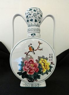 Vintage Chinese Porcelain Vase by ArtsCollectiblesbyKT on Etsy, $165.00