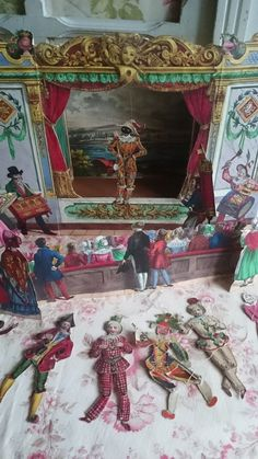 """Childs Puppet Theatre by """"Mairie"""" of Paris(mid to late 1800s)~Image via Simply Chateau."""