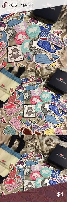 Vineyard vines & Ivory Ella random stickers Vineyard vines & Ivory Ella random stickers. $4 each or 3 for $10. I also have a vineyard Vines gift box very nice for $8,I also have a vinyl Vineyard Vines gift bag for $8. Accessories