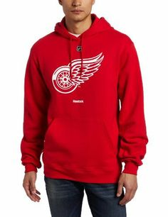 NHL Detroit Red Wings Primary Logo Hoodie, Red Reebok. $39.99