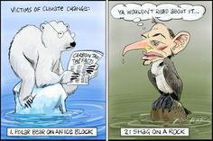 Victims of Climate Change, Bill Leak, The Australian | Political Cartoons Australia