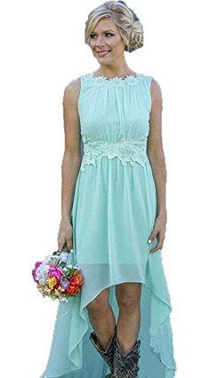 291a0acfe2adb CoCoGirls 2018 Chiffon Hi Low Bridesmaid Dresses Maid Of Honor Prom Dress  Plus Size US 4