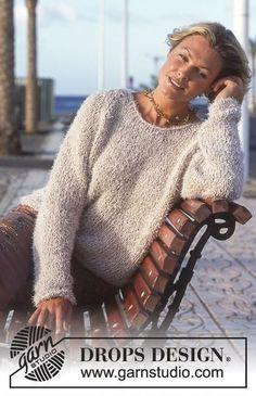 Free knitting patterns and crochet patterns by DROPS Design Sweater Knitting Patterns, Knit Patterns, Free Knitting, Crochet For Kids, Knit Crochet, Kids Vest, Drops Design, Big Knits, Cardigan Pattern