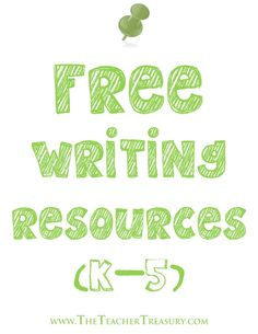 Follow this Pinterest board for links to Free Writing Resources primarily for grades K-5!