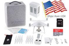 DJI Phantom 4 GPS QuadCopter Phantom4 Drone 4K HD Camera FREE FAST SHIPPING #ad