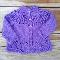 Diy Crafts - Ravelry: Project Gallery for Rosabel Cardigan pattern by Anne Dresow Baby Cardigan Knitting Pattern Free, Baby Sweater Patterns, Knitted Baby Cardigan, Knit Baby Sweaters, Knitted Baby Clothes, Cardigan Pattern, Baby Knitting Patterns, Baby Patterns, Knitting For Kids