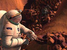 Working on Mars.