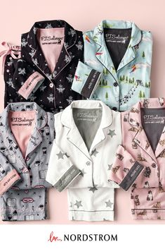Whimsical colors and patterns amplify the fun of soft cotton-flannel pajamas cut for a comfortably relaxed fit and packaged for easy gifting. Flannel Pajamas, Pyjamas, Satin Pyjama Set, Pajama Set, Womens Fashion Online, Latest Fashion For Women, Feng Shui, Basket Vintage, Pajamas For Teens