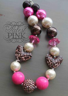 Leopard Love little girls chunky necklace.