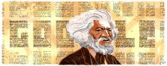 Gorgeous Google doodle of Frederick Douglass today! Love that hair.