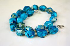 Blue Ocean Necklace  Imperial Jasper Nuggets by MeiFaithStudio, $120.00