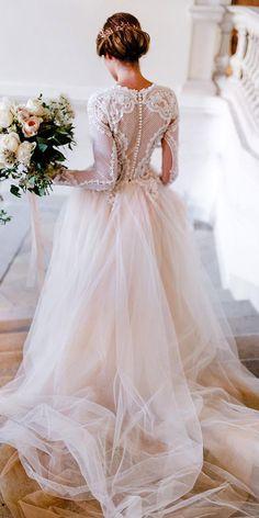 Wonderful Perfect Wedding Dress For The Bride Ideas. Ineffable Perfect Wedding Dress For The Bride Ideas. Best Wedding Dresses, Bridal Dresses, Dress Wedding, Ball Gown Wedding, Sleeved Wedding Dresses, Vintage Wedding Dresses, Robes Vintage, Blush Dresses, Top Vintage