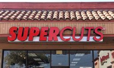 Here is a close-up photo of the raceway mounted front-lit channel letter sign we made for Supercuts in Toluca Lake, CA. #signage #channelletters #signs