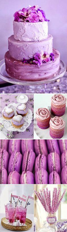 Radiant Orchid – Decoracion para bodas en color violeta