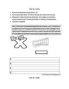 SET cu FISE de lucru ce cuprinde toate LITERELE alfabetului pentru COPIII de gradinita | Fise de lucru - gradinita