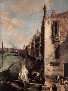 Antonio Canaletto - Canal grande visto dal Campo san Vio