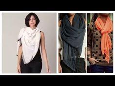 10 Maneras Simples De Usar Tus bufandas/ Pashmina !! - YouTube
