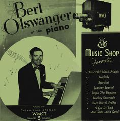 "Berl Olswanger's piano arrangements were a feature of his daily radio and television programs over WMC in Memphis during the 1950s. Under his own Music Shop Records label, Berl recorded the album BERL OLSWANGER AT THE PIANO, which included his arrangements of such popular numbers as ""Begin the Beguine"" and ""Donkey Serenade"" in response to requests by his radio listeners for an album of Berl Olswanger piano stylings. www.classicsonline.com/catalogue/product.aspx?pid=1678625"