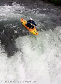 #Kayak about to drop off a #waterfall