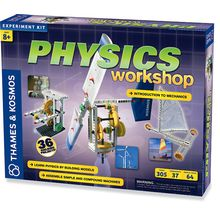 Make a wind power generator, all-terrain vehicle, crane, sail car, Mars robot, centrifuge, pendulum clock and more-36 projects in all! The Physics Workshop hands-on approach demonstrates fundamental laws of physics like gravity, force and acceleration with cool machines that kids build themselves.