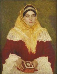 PORTRAIT OF A JEWISH WOMAN HOLDING A PRAYER BOOK