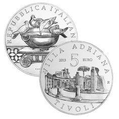 Chcete vidieť ako vypadá Hadrianova vila v Tivoli? Na 5 eurovej minci Talianska si ju môžete pozrieť.