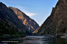 Middle Fork - This is a scene that is always beautifully sad. This is the last view back up canyon as the 100 mile float down the Middle Fork of the Salmon comes to an end at the confluence with the main Salmon. This was early in the morning Tuesday linkjacksonart.com August 4, 2015.