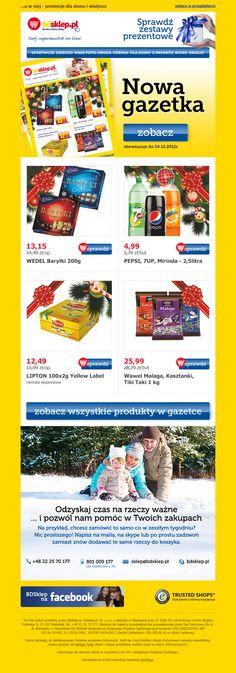 """Email marketing dla bdsklep.pl to estetyczny i ciekawy sposób prezentacji produktów w myśl przewodniego hasła """"Odzyskaj czas na rzeczy ważne""""."""