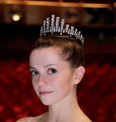 Each of the four principal dancers--Megan Fairchild is pictured here--wore Swarovski tiaras.