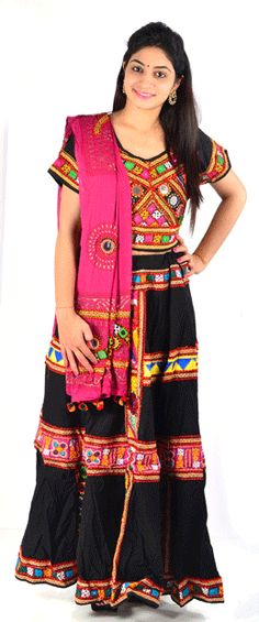 Beautifully crafted for girls and womens dazzling embellishments is a perfect traditional dress to your girls and wardrobe.Dress her with a classy style statement for festivals with this ethnic set that will make you look Beautiful.Cotton traditional gujarati lacha/chaniya choli in multi color. The
