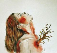 Illustration by Lucy Salgado #art #painting #portrait