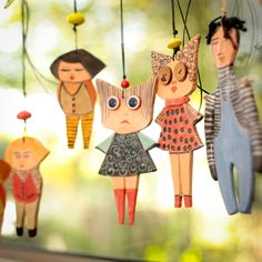 Ceramic Marionette----Anna dolls----Gift-Sweet- Doll--moblie.-Modern--home decor-Chrsitmas gift--Gift under 50 USD--Spring by AnnaLela on Etsy https://www.etsy.com/listing/111609194/ceramic-marionette-anna-dolls-gift-sweet