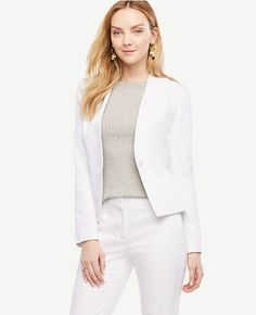 Primary Image of Cotton Sateen Collarless Jacket