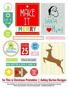 Ashley Horton Designs: Let Your Heart be Light & FREE Christmas Printables