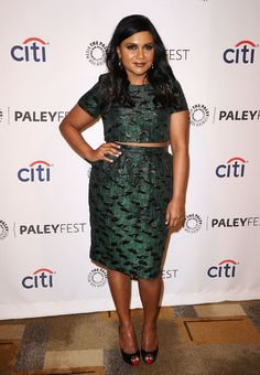 Mindy Kaling in Topshop (love the crop top!)