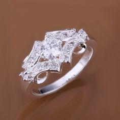 3.13$  Watch now - http://di520.justgood.pw/go.php?t=110390301 - Fake Diamond Belt Shape Ring 3.13$
