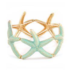 Minty Starfish Bracelet on Emma Stine Limited