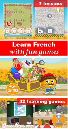 Learn French with Fun Games Learn French with Fun Games — fun language app designed for young children Learning French For Kids, French Language Learning, Teaching French, Foreign Language, Learning Apps, Ways Of Learning, Learn To Speak French, French Kids, French Classroom