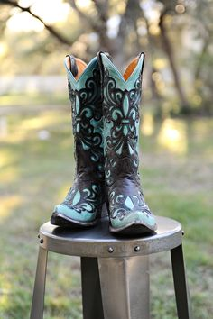 Lucchese Boots. If only I could justify spending that much money of a pair of cowboy boots. . .some day.