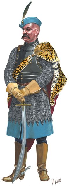 Croatian hussar officer, Battle of Sisak (1593)