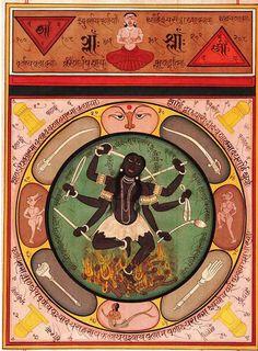 """danielwamba: """" Kali Kalika Vedic Sanskrit Calligraphy Tantra """""""