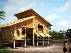 Bamboo Architecture, Tropical Architecture, Concept Architecture, Bamboo Structure, Timber Structure, Bamboo Building, Natural Building, Bamboo House Design, Tiny House Design