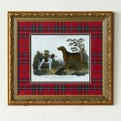Jeffrey Banks Hunting Dogs Framed Giclée Print with Royal Stewart Tartan Mat at HSN.com