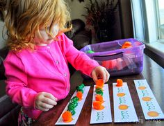 Pumpkin Pattern Printable to go along with a pumpkin sensory bin via I Heart Crafty Things.