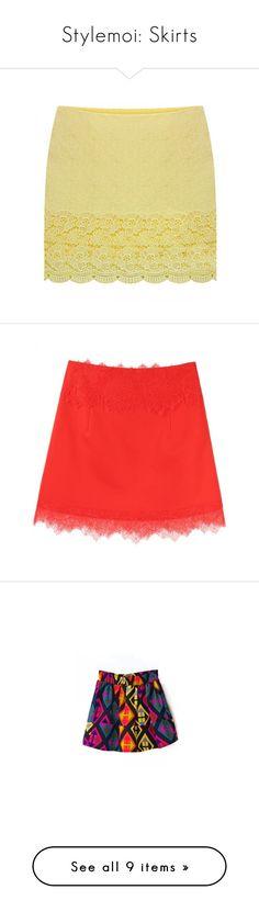 """Stylemoi: Skirts"" by ladyturquoise8 ❤ liked on Polyvore featuring skirts, mini skirts, stylemoi, maxi skirt, circle skirt, beige mini skirt, mini pencil skirt, maxi tube skirt, flared mini skirt and a-line skirt"